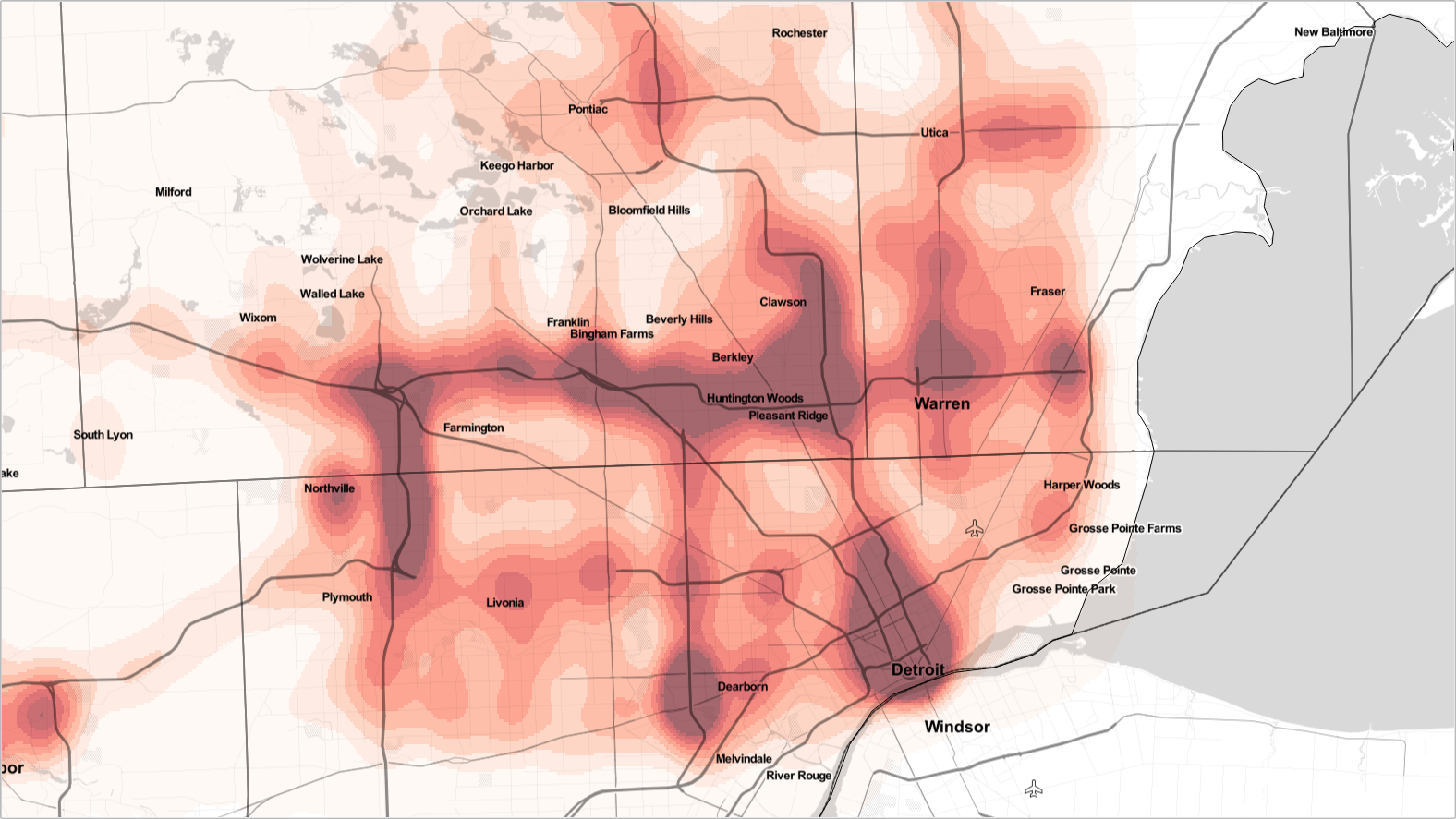 Detroit Metro mobile network use patterns