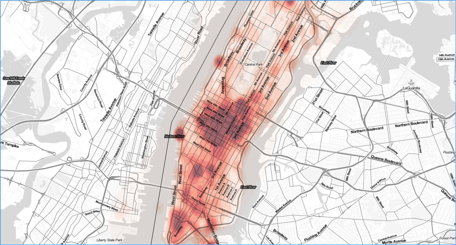 Lower Manhattan mobile network use pattern